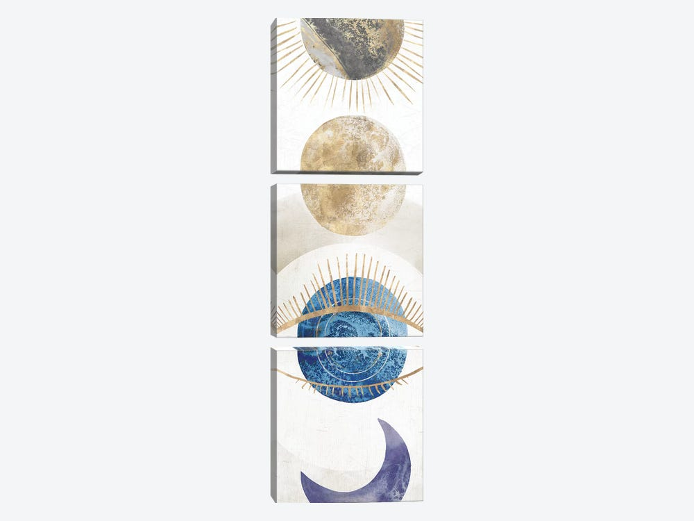 Crescent Moon I  by Isabelle Z 3-piece Canvas Art