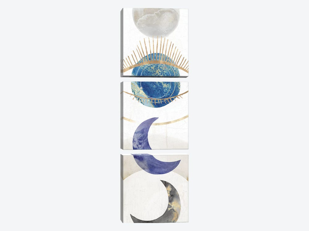 Crescent Moon II  by Isabelle Z 3-piece Canvas Art Print