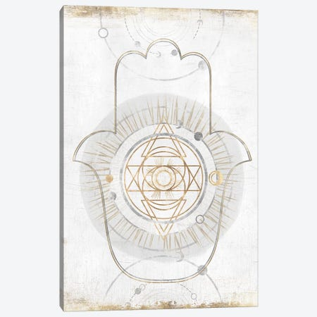 Gold Hamsa I  Canvas Print #ZEE175} by Isabelle Z Art Print