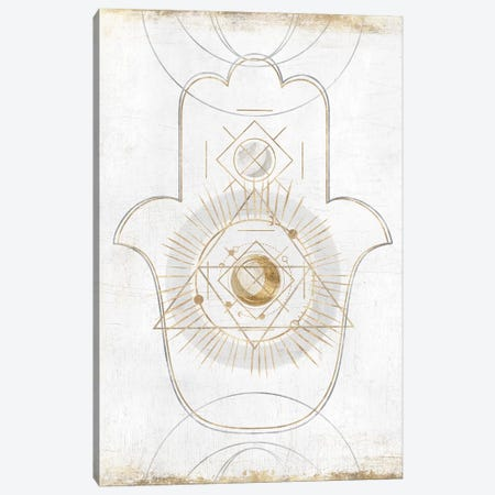 Gold Hamsa II  Canvas Print #ZEE176} by Isabelle Z Canvas Art Print