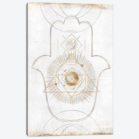 Gold Hamsa II  Canvas Print #ZEE176} by Isabelle Z Canvas Art Print