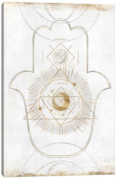 Gold Hamsa II  Canvas Art Print