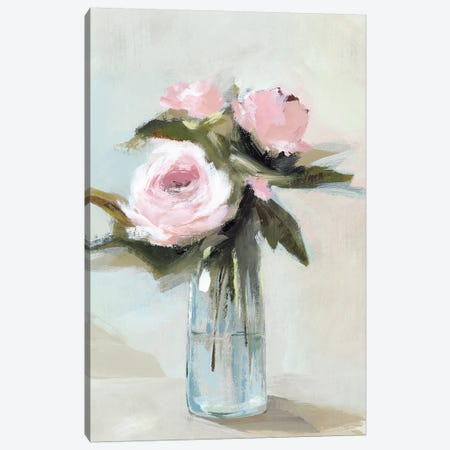 Peonies in a Vase I  3-Piece Canvas #ZEE184} by Isabelle Z Canvas Artwork