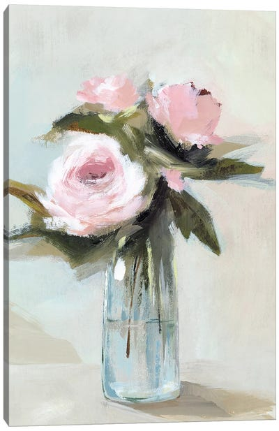 Peonies in a Vase I  Canvas Art Print