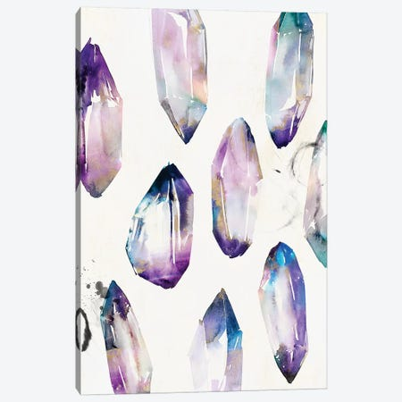 Purple Gemstones II  Canvas Print #ZEE190} by Isabelle Z Canvas Wall Art