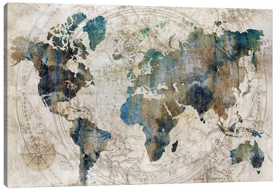 Celestial Map  Canvas Art Print