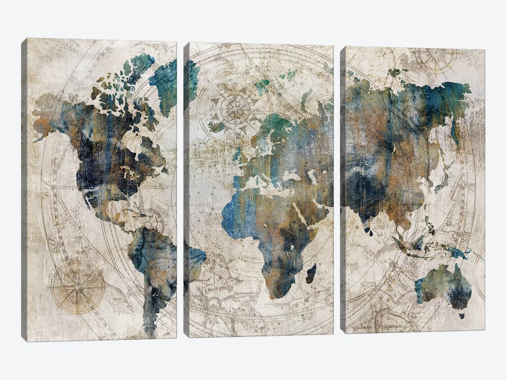 Celestial Map  by Isabelle Z 3-piece Canvas Art