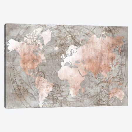 Celestial World Map Canvas Print #ZEE199} by Isabelle Z Canvas Art