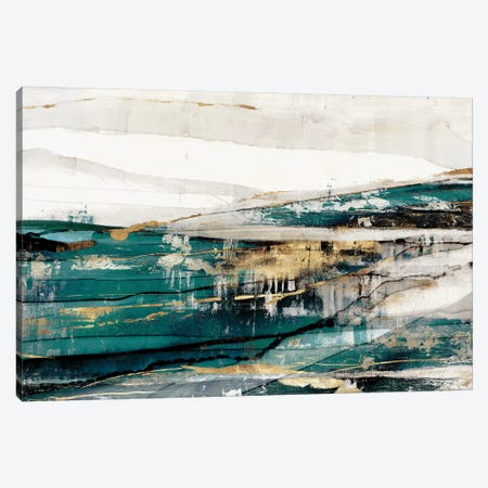 Delighted Teal Version  Canvas Print #ZEE201} by Isabelle Z Canvas Art