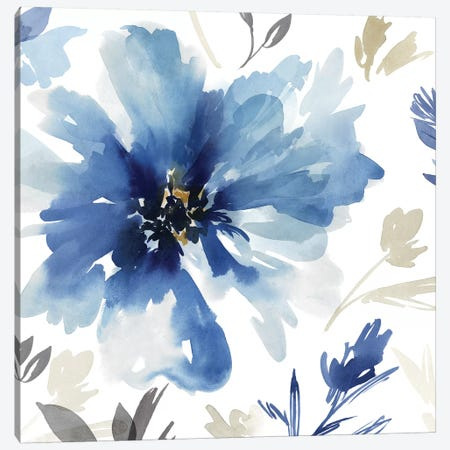 Finesse I Indigo Version  Canvas Print #ZEE208} by Isabelle Z Canvas Wall Art