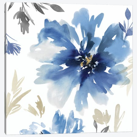 Finesse II Indigo Version  Canvas Print #ZEE210} by Isabelle Z Canvas Art Print