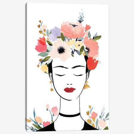 Flower Crown Frida I  Canvas Print #ZEE233} by Isabelle Z Canvas Art Print