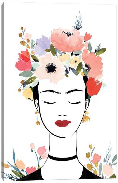 Flower Crown Frida I  Canvas Art Print