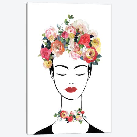 Flower Crown Frida II  Canvas Print #ZEE234} by Isabelle Z Canvas Artwork