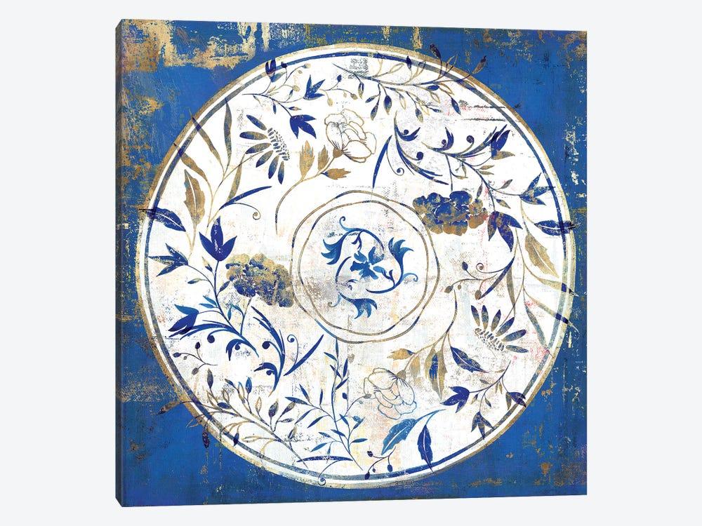 Indigo Porcelain Tile I  by Isabelle Z 1-piece Canvas Art