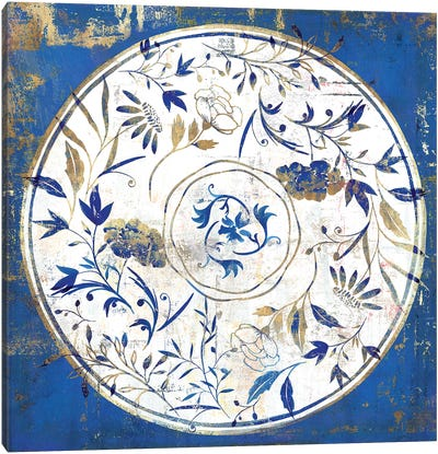Indigo Porcelain Tile I  Canvas Art Print