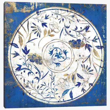 Indigo Porcelain Tile I  Canvas Print #ZEE241} by Isabelle Z Canvas Art
