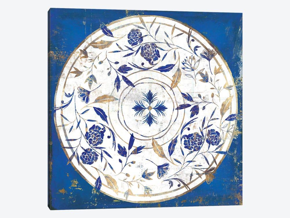 Indigo Porcelain Tile II  by Isabelle Z 1-piece Art Print