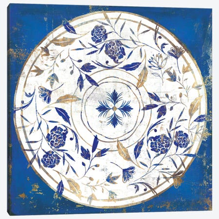 Indigo Porcelain Tile II  Canvas Print #ZEE242} by Isabelle Z Canvas Wall Art