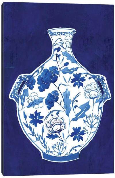 Indigo Porcelain Vase I  Canvas Art Print