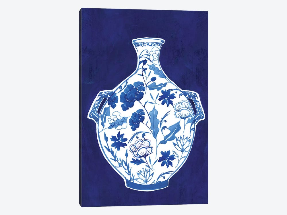 Indigo Porcelain Vase I  by Isabelle Z 1-piece Canvas Art