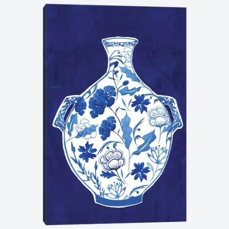 Indigo Porcelain Vase I  Canvas Print #ZEE243} by Isabelle Z Canvas Art
