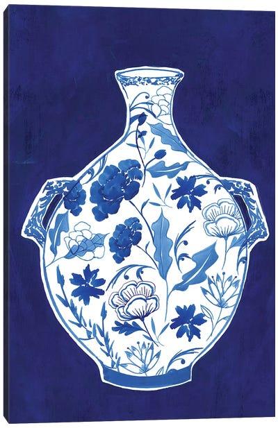 Indigo Porcelain Vase I  Canvas Art Print