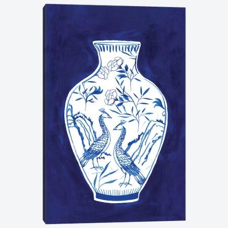 Indigo Porcelain Vase II  Canvas Print #ZEE244} by Isabelle Z Canvas Print