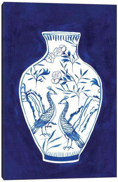 Indigo Porcelain Vase II  Canvas Art Print