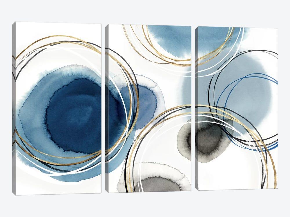 Infinity Indigo I  by Isabelle Z 3-piece Canvas Art