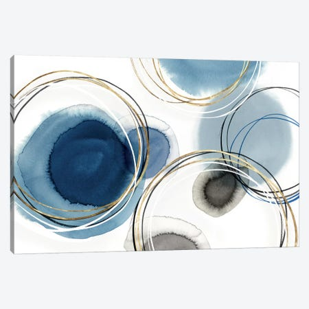 Infinity Indigo I  3-Piece Canvas #ZEE245} by Isabelle Z Art Print