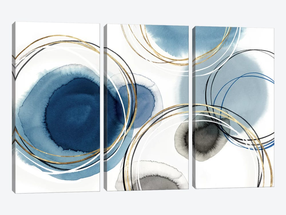 Infinity Indigo I  by Isabelle Z 3-piece Canvas Art