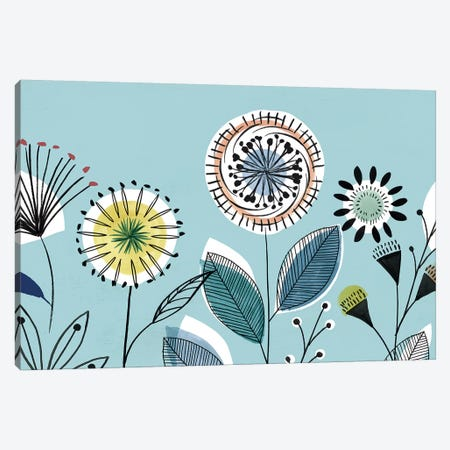 Scandi Florals I  Canvas Print #ZEE260} by Isabelle Z Canvas Artwork