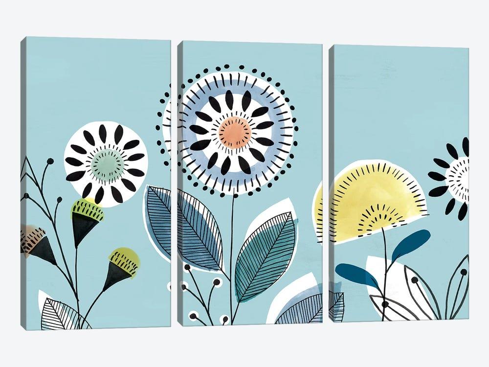 Scandi Florals II  by Isabelle Z 3-piece Canvas Art