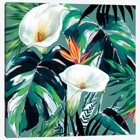 White Lily Paradise  Canvas Print #ZEE274} by Isabelle Z Canvas Wall Art