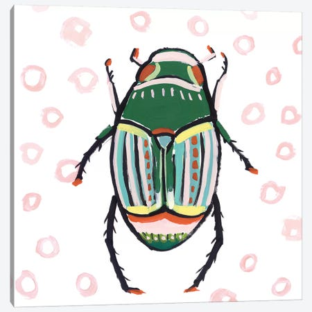 Emerald Beetle  3-Piece Canvas #ZEE278} by Isabelle Z Canvas Art Print