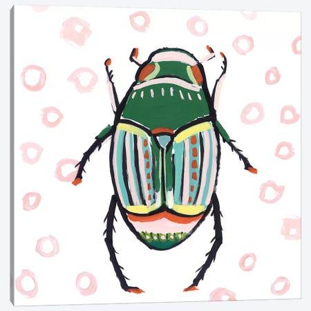 Emerald Beetle  Canvas Print #ZEE278} by Isabelle Z Canvas Art Print