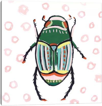 Emerald Beetle  Canvas Art Print