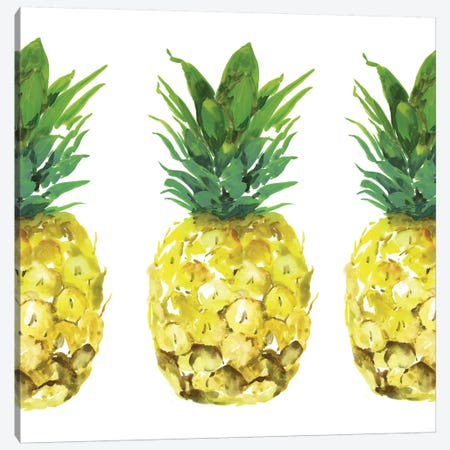 Triple Pineapples  Canvas Print #ZEE287} by Isabelle Z Art Print