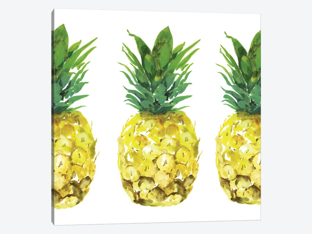Triple Pineapples  by Isabelle Z 1-piece Canvas Wall Art