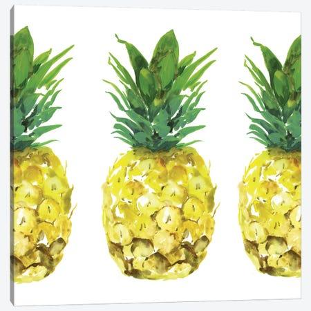 Triple Pineapples  Canvas Print #ZEE287} by Isabelle Z Art Print