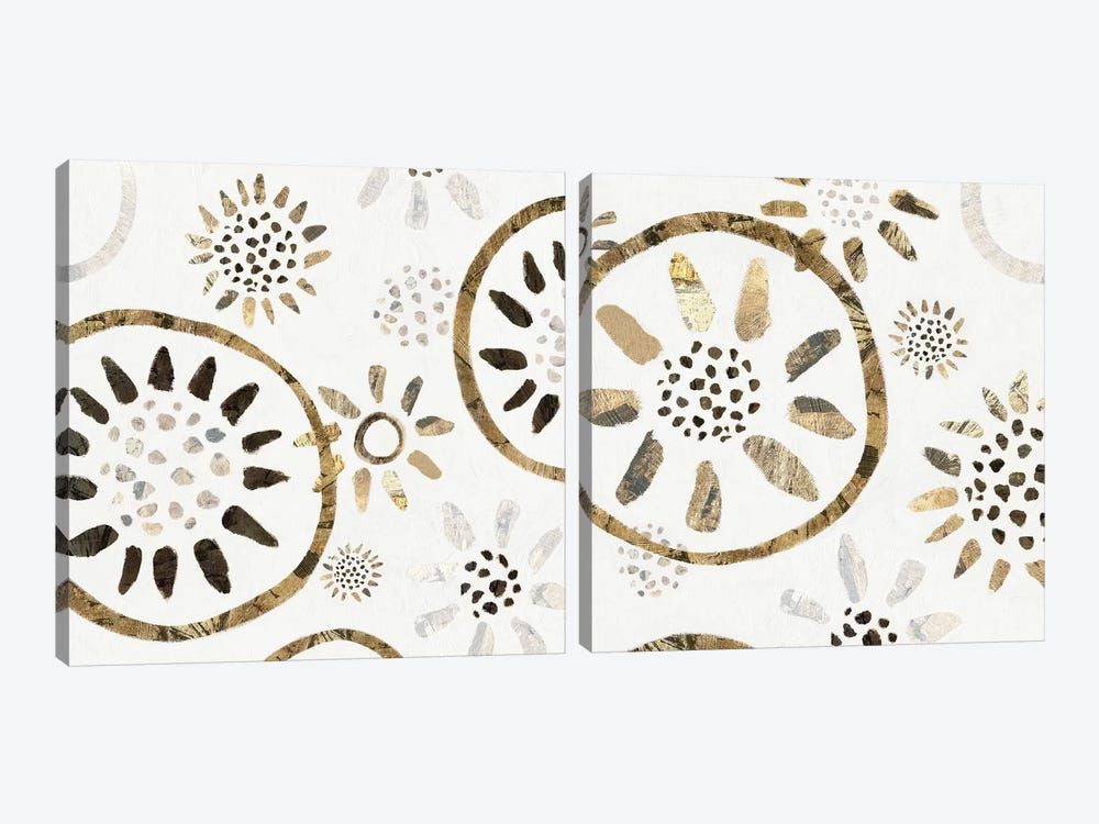 Garden Of Gold Diptych by Isabelle Z 2-piece Canvas Art Print