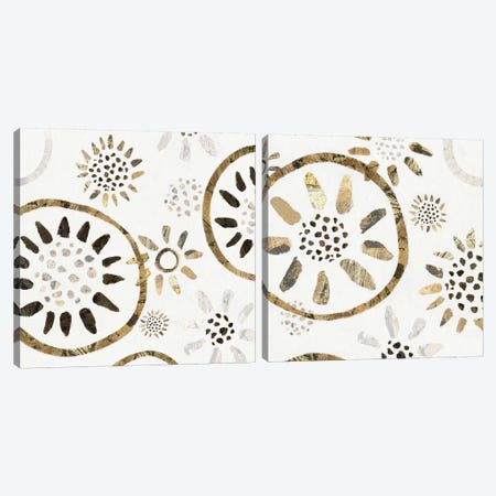 Garden Of Gold Diptych Canvas Print Set #ZEE2HSET001} by Isabelle Z Canvas Art Print