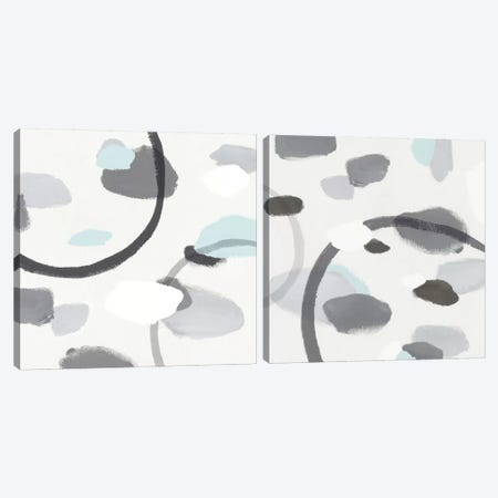Grey Diptych Canvas Print Set #ZEE2HSET002} by Isabelle Z Art Print