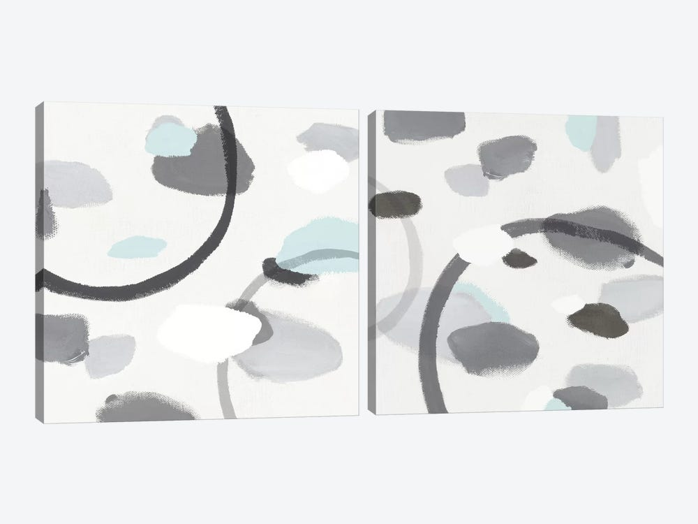 Grey Diptych by Isabelle Z 2-piece Canvas Wall Art