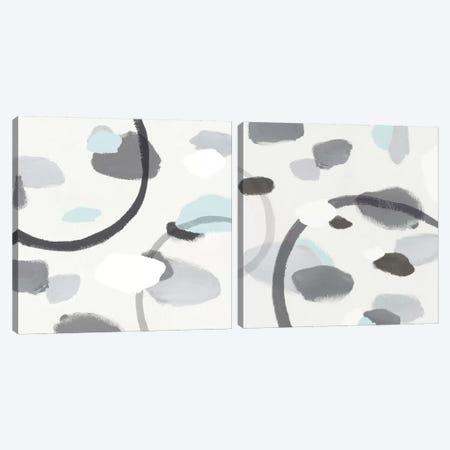 Grey Diptych Canvas Print Set #ZEE2HSET002} by Isabelle Z Art Print