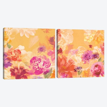Vintage Floral Diptych Canvas Print Set #ZEE2HSET005} by Isabelle Z Canvas Wall Art