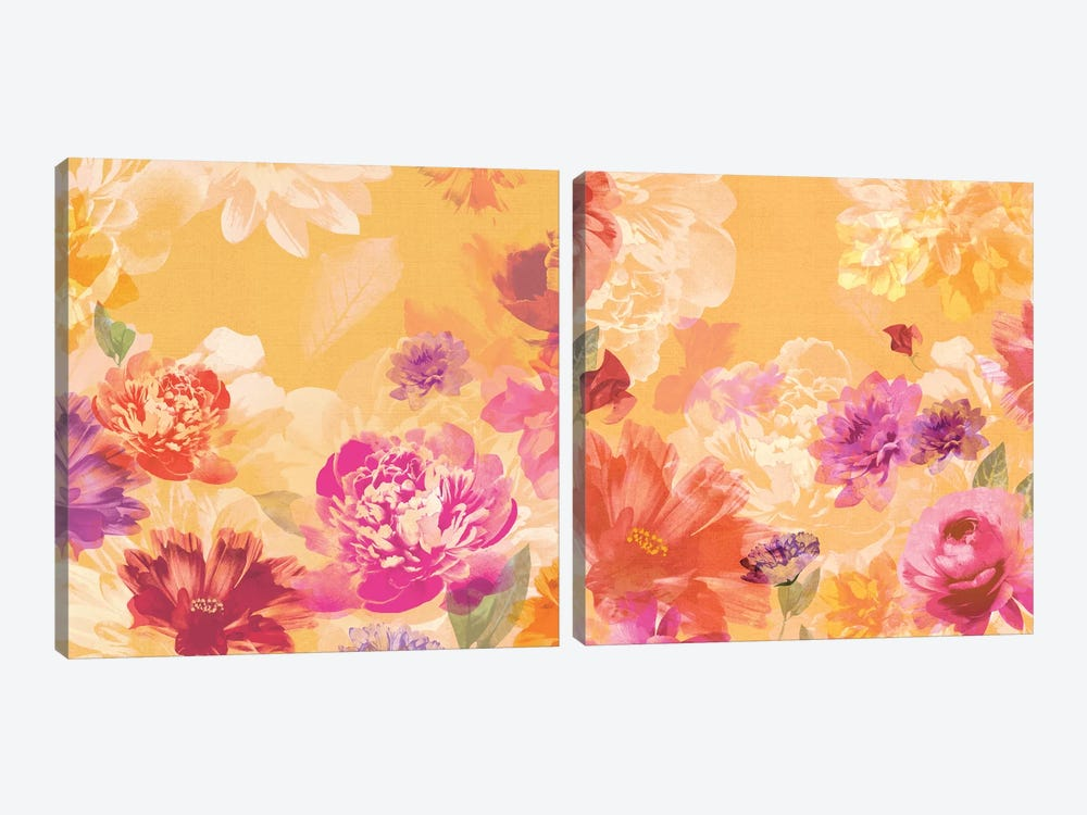 Vintage Floral Diptych by Isabelle Z 2-piece Canvas Print
