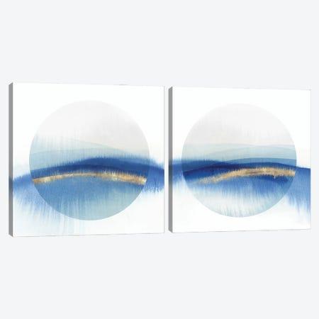 Indigo Eclipse Diptych  Canvas Print Set #ZEE2HSET012} by Isabelle Z Canvas Art