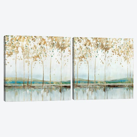 River Breath Diptych Canvas Print Set #ZEE2HSET015} by Isabelle Z Art Print